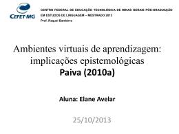 Apresentação Paiva 2010 Elane - ambientes