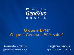 Qué es BPM? Qué es GeneXus BPM Suite?