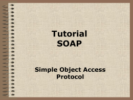 Tutorial SOAP
