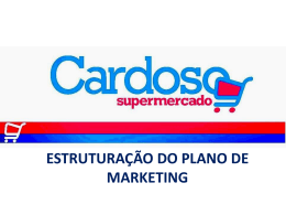 estruturação do plano de marketing para a empresa supermercado