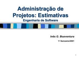 Estimativas de Projeto de Software
