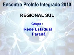 Encontro ProInfo Integrado 2010 - Paraná