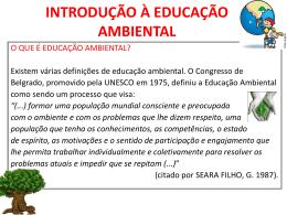 introdução à educação ambiental - Universidade Castelo Branco