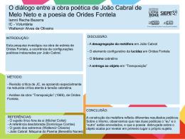 O diálogo entre a obra poética de João Cabral de Melo