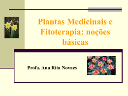 Noções de Fitoterapia e Plantas Medicinais