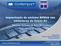 Solução BNWeb Senac