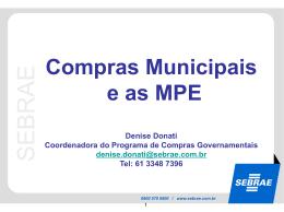10h30 - Micro e Pequena Empresas (MPE) SEBRAE, Denise Donati