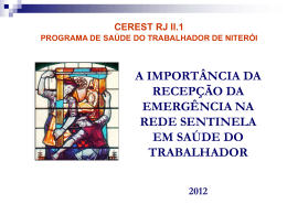 Capacitação Rede Sentinela (Recepção Hospitais)