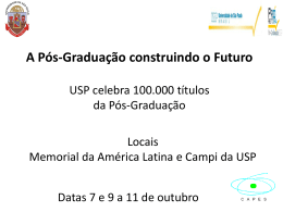 Slide 1 - Prefeitura do Campus USP de São Carlos