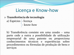 Licença e Know-how