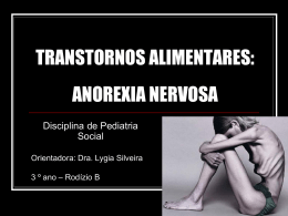TRANSTORNOS ALIMENTARES: ANOREXIA NERVOSA