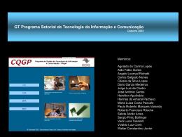GT Programa Setorial de Tecnologia da Informação e Comunicação