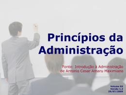 Princípios da Administração