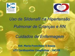 Uso de Sildenafil na Hipertensão Pulmonar de Crianças e RN
