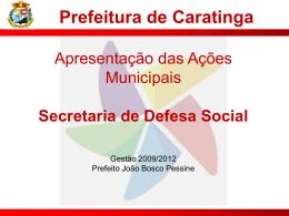 Slide 1 - Câmara Municipal de Caratinga