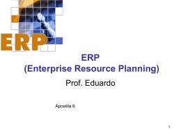 ERP -ENTERPRISE RESOURCE PLANNING apostila 6