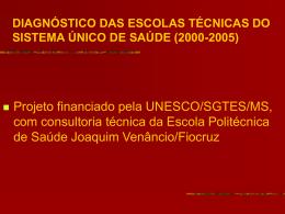 diagnóstico das escolas técnicas do sistema único de saúde (2000