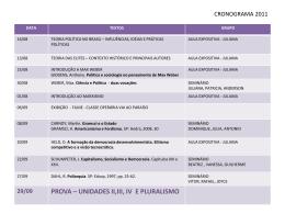 CRONOGRAMA 2011 - Ideias Concretas