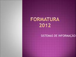 FORMATURA 2012