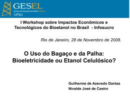 LEILÃO DE ENERGIA RESERVA - Instituto de Economia da UFRJ