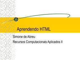 Apresentação em Power Point de HTML