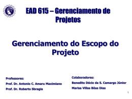 Aula 5 - Gerenciamento do Escopo do Projeto
