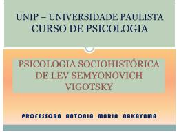 psicologia sociohistórica de lev seminonovich vigotsky