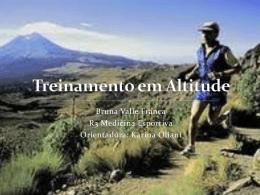 Treinamento em Altitude