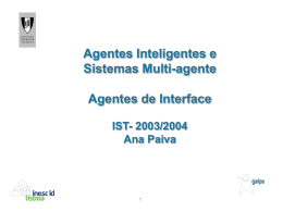 Capítulo 9 - Agentes de Interface