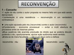 2 - Pressupostos da reconvenção