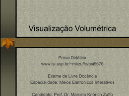 Visualiza‡ao Volum'trica 2