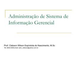 Administração de sistema de informação Gerencial