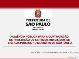 DA EXECUÇÃO DOS SERVIÇOS - Prefeitura de São Paulo