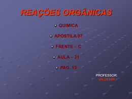 slides reacao adicao on line