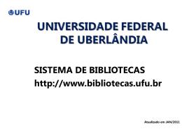 campus pontal - Sistema de Bibliotecas da UFU