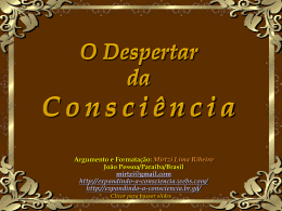 WORKSHOP O DESPERTAR DA CONSCIКNCIA