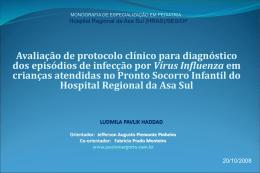 Monografia-2008 (APRESENTAÇÃO): Avaliação de protocolo