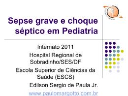 Sepse grave e choque séptico em Pediatria