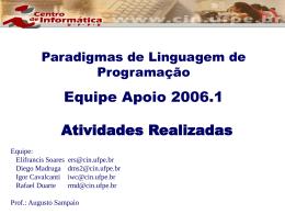 Equipe Apoio 2006.1