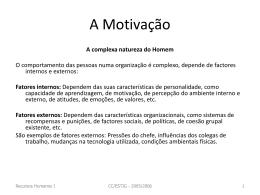 A Motivação - adalid.zeballos