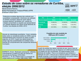 Estudo de caso: vereadores eleitos em 2008 em Curitiba e