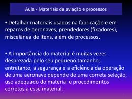 Aula de Materiais de aviação e processos