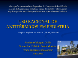 Uso racional de antitérmicos em Pediatria