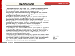 Romantismo_nome do aluno