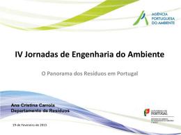 O Panorama dos Resíduos em Portugal