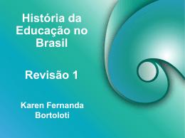 História da educação.