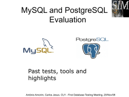 Serial benchmarks in Mysql, Oracle and PostgreSQL