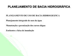 planejamento de bacia hidrográfica