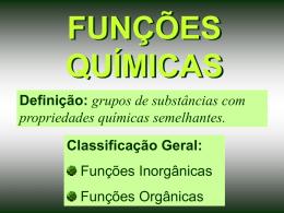 FUNÇÕES INORGÂNICAS - Prof. Camilo Castro
