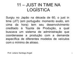11 – JUST IN TIME NA LOGÍSTICA